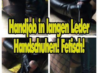 """Vorschaubild vom Privatporno mit dem Titel """"Handjob in langen Leder Handschuhen! Fetisch!"""""""