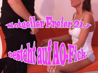 """Vorschaubild vom Privatporno mit dem Titel """"Notgeiler Freier (21J.) besteht auf AO-Fick"""""""