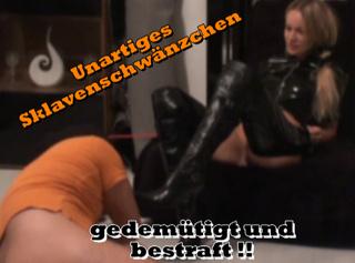 """Vorschaubild vom Privatporno mit dem Titel """"Unartiges Sklavenschwänzchen gedemütigt und bestraft !!"""""""