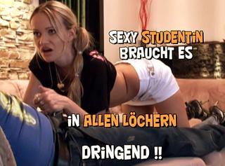 """Vorschaubild vom Privatporno mit dem Titel """"Sexy Studentin braucht es in allen Löchern dringend!"""""""