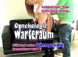"""Vorschaubild vom Privatporno mit dem Titel """"Gynekologie Warteraum!! Zukünftiger Papi fickt mich heftig, wärend seine schwangere Alte konsultiert"""""""
