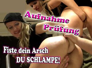 """Vorschaubild vom Privatporno mit dem Titel """"Aufnahme Prüfung, fiste dein Arsch Schlampe!!!"""""""