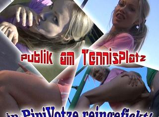 """Vorschaubild vom Privatporno mit dem Titel """"Publik am Tennisplatz in Pipi-Votze reingefickt!"""""""