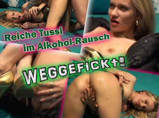 """Vorschaubild vom Privatporno mit dem Titel """"Reiche Tussi im Alkoholrausch weggefickt!"""""""