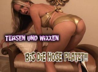 """Vorschaubild vom Privatporno mit dem Titel """"Teasen und Wichsen bis die Hose platzt!"""""""