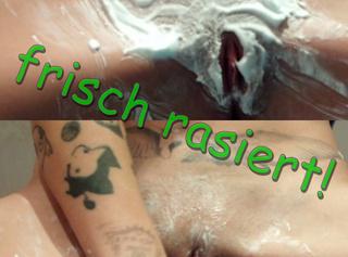 """Vorschaubild vom Privatporno mit dem Titel """"frisch rasierte Pussy!"""""""