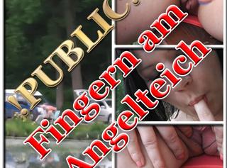 """Vorschaubild vom Privatporno mit dem Titel """"Public - Fingern am Angelteich"""""""