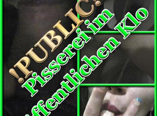 """Vorschaubild vom Privatporno mit dem Titel """"Pisserei auf öffentlichem Klo"""""""