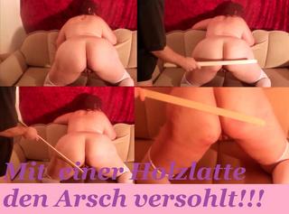 """Vorschaubild vom Privatporno mit dem Titel """"Mit einer Holzlatte den Arsch versohlt"""""""