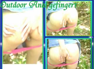 """Vorschaubild vom Privatporno mit dem Titel """"Outdoor Anal gefingert"""""""
