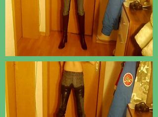"""Vorschaubild vom Privatporno mit dem Titel """"Jeans und Stiefel vollgepisst"""""""