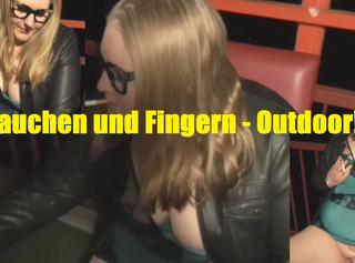 """Vorschaubild vom Privatporno mit dem Titel """"Rauchen und Fingern - Outdoor!"""""""