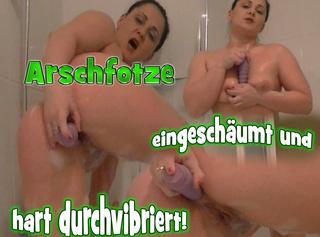 """Vorschaubild vom Privatporno mit dem Titel """"Arschfotze eingeschäumt und hart durchvibriert!!"""""""