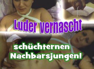 """Vorschaubild vom Privatporno mit dem Titel """"Luder vernascht schüchternen Nachbarsjungen!"""""""