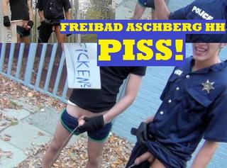 """Vorschaubild vom Privatporno mit dem Titel """"Gayle Outdoor-Pisserei mit Latino-Polizist"""""""