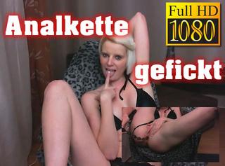 """Vorschaubild vom Privatporno mit dem Titel """"Analkette gefickt"""""""