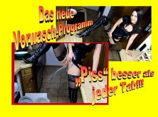 """Vorschaubild vom Privatporno mit dem Titel """"Das neue """"PISS-MASSINA"""" Vorwasch-Programm"""""""