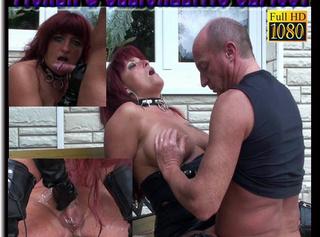"""Vorschaubild vom Privatporno mit dem Titel """"Sklave fickt mich und ich pisse dabei auf seinen Schwanz"""""""