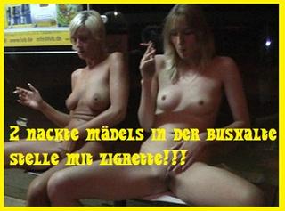 """Vorschaubild vom Privatporno mit dem Titel """"In der Bushaltestelle Nackt gesessen und geraucht"""""""